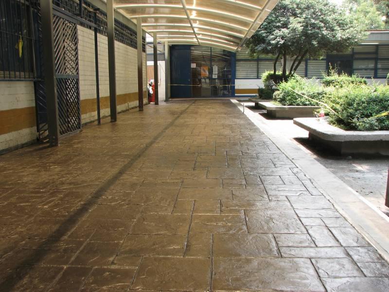 Oxicreto oxidantes para concreto for Cemento estampado fotos
